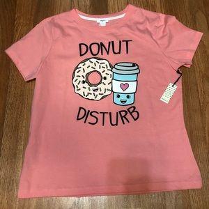 Forever 21 Donut Disturb Pink T-shirt/Sleepwear. L